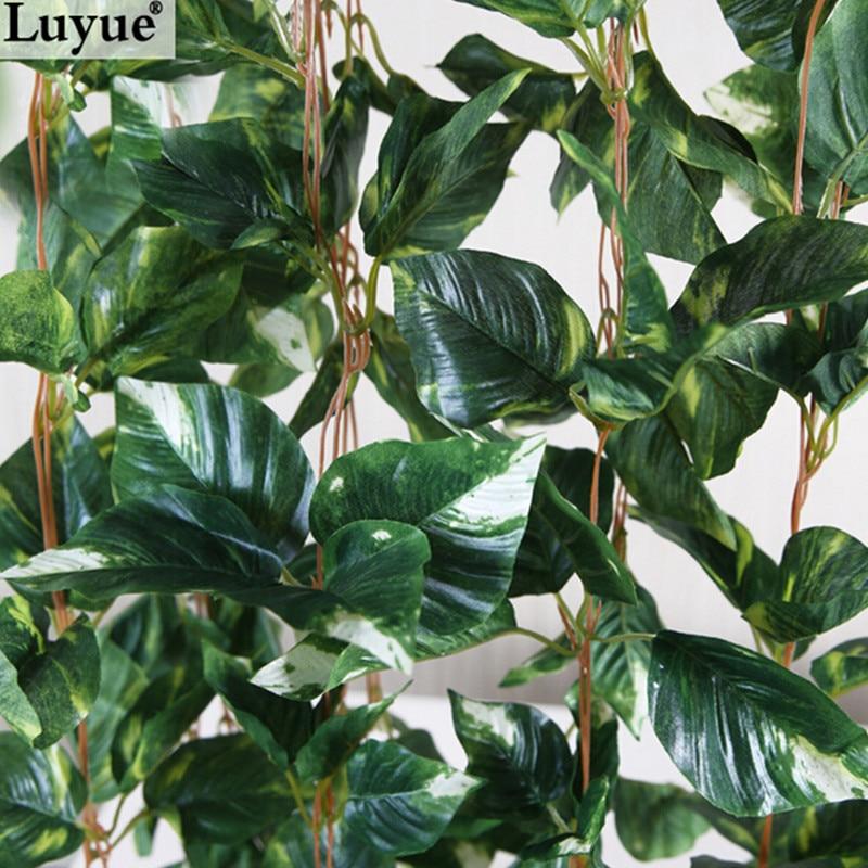 Luyue 250cm 5pcs / lot Umetni Ivy Leave Garland Simulacijske rastline Vinska ponaredek Listje Listje Cvetje Stenske viseče Home decor