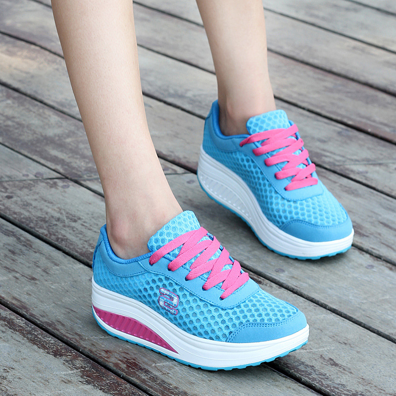 2018 New Woman Shoes Autumn And Winter Breathable Flats Mesh Shoes