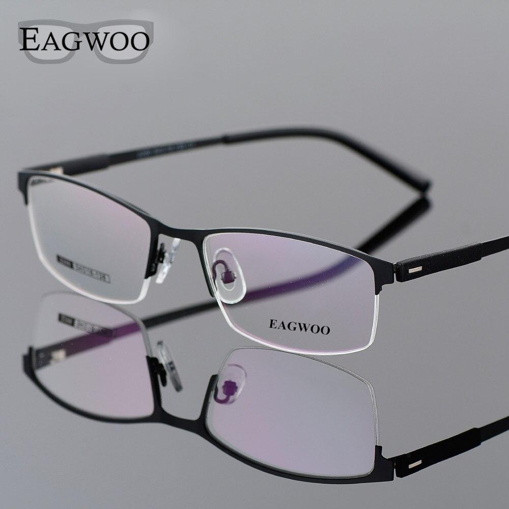 EAGWOO Geschäfts Brillen Halbrand Optische Gläser Männer Brillen ...