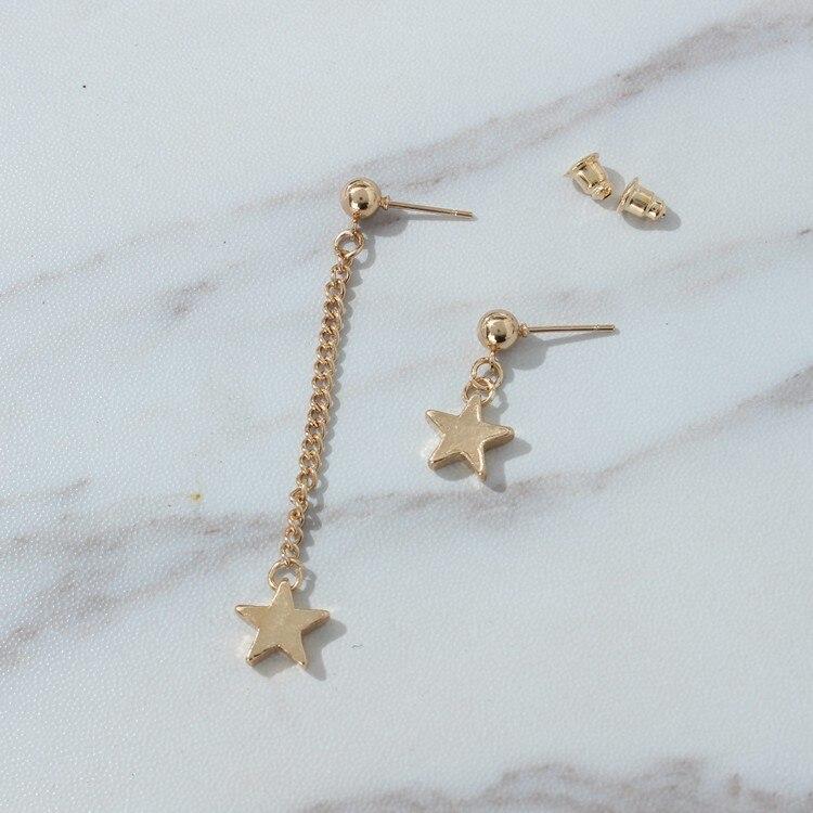 2020 New Fashion Earrings Popular Star Style Earrings Lady Gifts Asymmetrical Beautiful Star Pendants Earrings Big Discounts