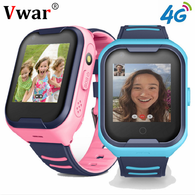 2019 Vwar 4G Kids Smart Watch Wifi GPS Tracker Smartwatch Children Video Call Waterproof 4g SOS Baby Watch Phone for Child Clock