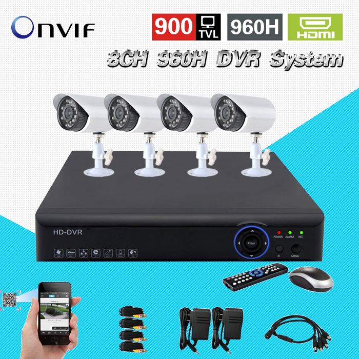 8ch font b CCTV b font System H 264 AHD L 960H realtime recording DVR recorder