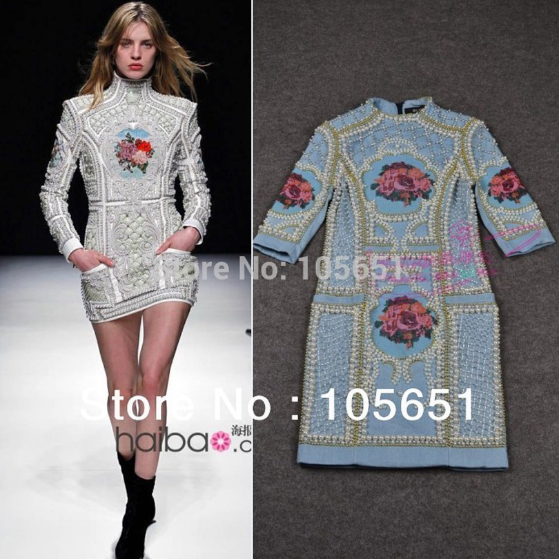 High quality barocco new fashion baroque runway dress