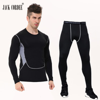 JACK CORDEE Brand Camouflage Mens Compression Sets Pants And Shirt Base Layer Crossfit Fitness T Shirt