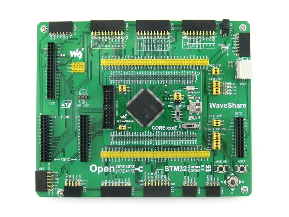 Waveshare Free Shipping STM32 Board STM32F407ZxT6 ARM Cortex M4 Development Board STM32F4 Series Boards Open407Z C