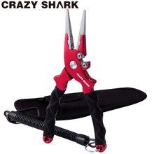 CrazyShark Aluminium Fishing Pliers Hook Remover Line Cutting Tools Carp Scissors For Freshwater/Saltwater 17cm