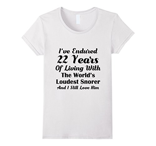 22nd Wedding Anniversary Gift Ideas: Funny Snoring T Shirt 22nd Wedding Anniversary Gift Wife