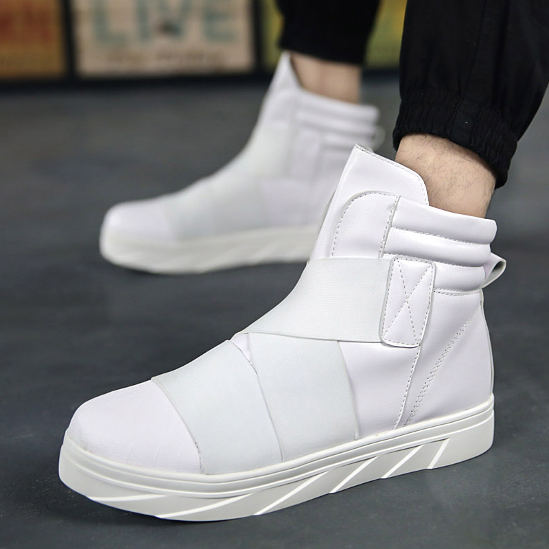 Hip Zapatillas Sneakers Plat De Mode blanc Bota Rue Britannique Marche High Noir Hommes rouge Top Nouveau Occasionnels Hombre Hop Chaussures Respirant qFgOwBfnax