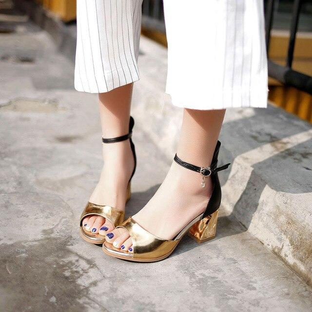 Zapatos Verano Peep Damas Plataforma Las Mujeres Vestir Toe De stdrhQ