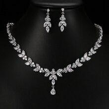 Emmaya – Ensembles de bijoux et accessoires distingués pour femme, boucles doreilles, collier, en Zircon, cubique, à porter pour les fêtes et mariages, cadeau