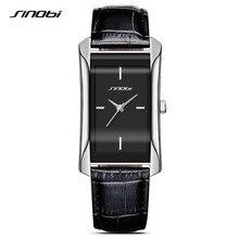 SINOBI 2017 Popular Square Dial Women Dress Watches Charm Lady Leather Wristwatch Quartz Clock Reloj Mujer Lovers Girl Gift F37