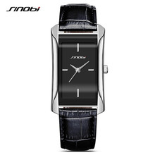 SINOBI 2017 Popular Square Dial Women Dress Watches Charm Lady Leather Wristwatch Quartz Clock Reloj Mujer Lovers Girl Gift F37