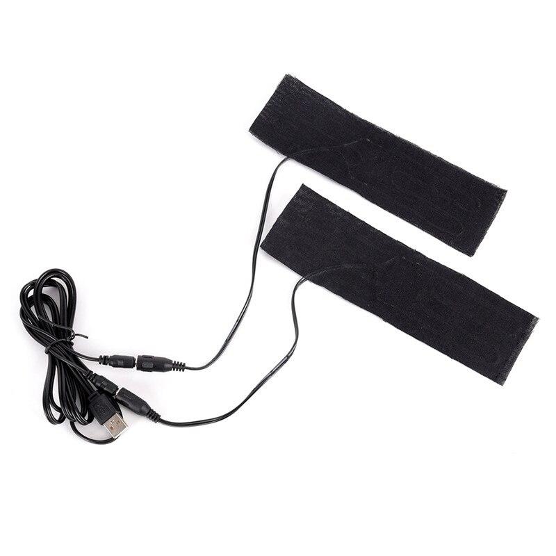 1 Pc 6 Cm X 20 Cm Carbon Faser Beheizten Pads Usb Beheizte Jacke Mantel Weste Zubehör Warm Zurück Neck Schnelle-heizung