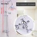 Набор для душа для ванной комнаты  настенный смеситель для душа  смеситель с насадкой для душа и ручной душевой хромированной отделкой ML8501