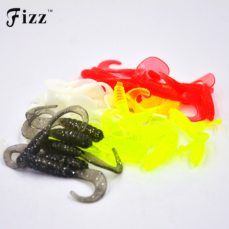 50pcs 4cm soft silicone rubber worms fishing lure for Rubber fishing worms