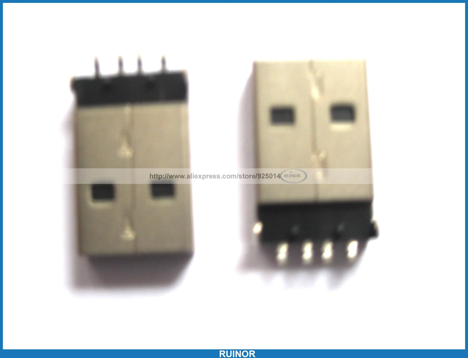 ФОТО 120 Pcs 4 Pin USB Am SMT Plug Male Connector for PC Use