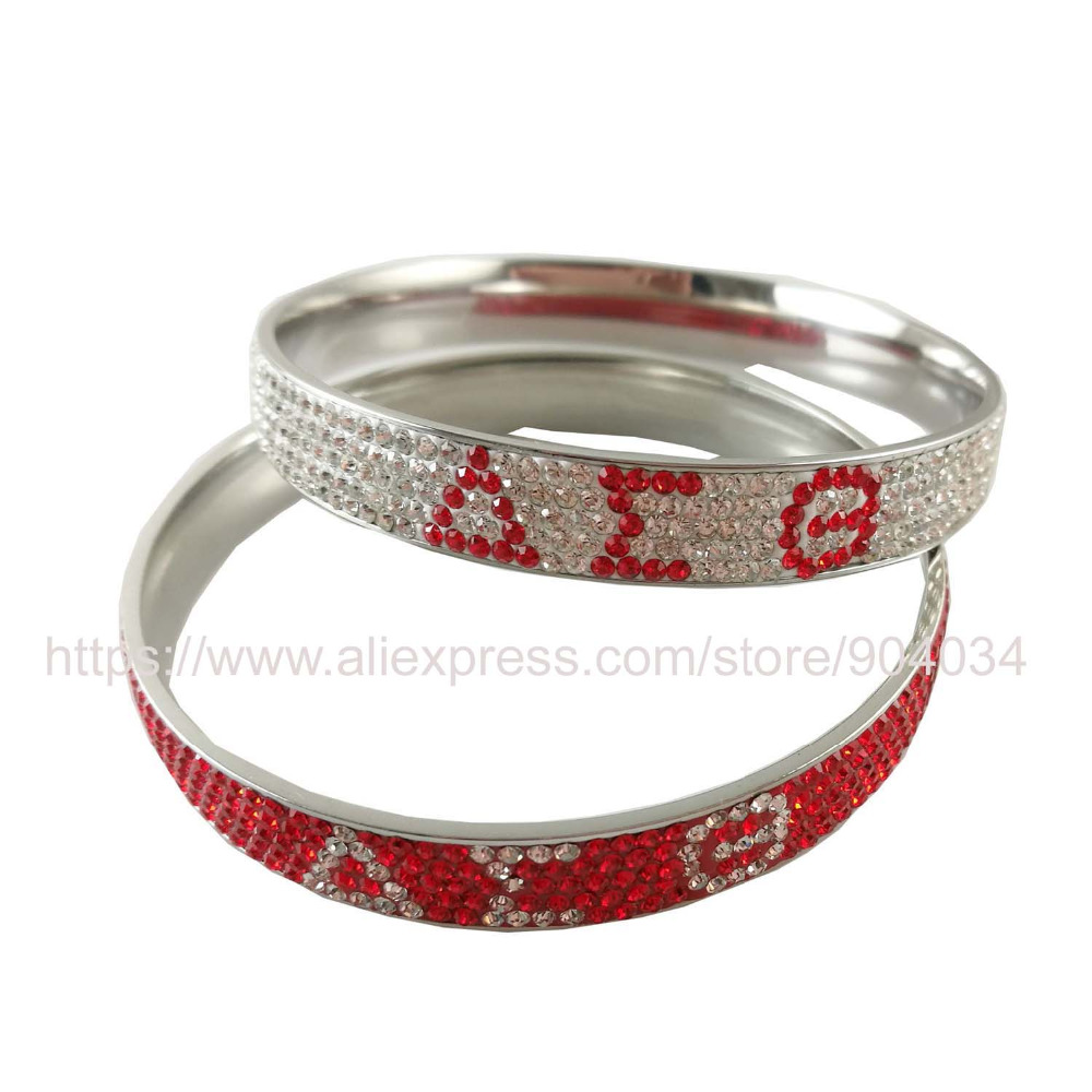 Delta sigma theta sorority high quality crystal stainless for Delta sigma theta jewelry