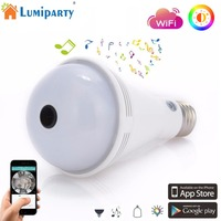 LumiParty E27 Wi Fi Light Sensor Monitor Bulb Bluetooth SMD5050 Music Bulb with Remote Monitoring Camera Decorative Lamp