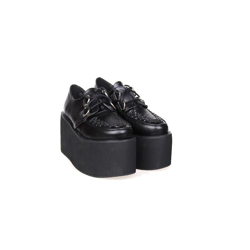 Angelic imprint New Arrival Punk Lolita style Women Pumps High Heel Platform gothic shoes size 35-46 8363 angelic imprint gothic lolita style platform shoes new fashion lolita sandals size 35 46 8276