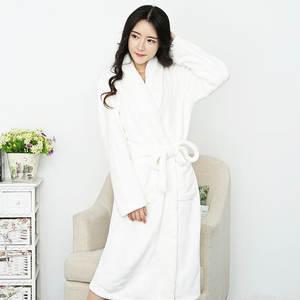 ba79f138f8 mling Flannel Bathrobe Long Kimono Robe Sleepwear Peignoir