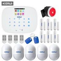 KERUI G19 оповещения на английском и русском языке Беспроводной GSM SMS Главная охранной Система сигнализации pir детектор движения дверная сигнал