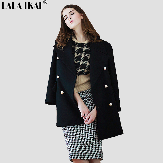 Manteau laine militaire femme