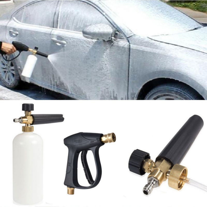 Pressure Snow Foam Washer Jet Car Wash Adjustable Lance Soap Spray Cannon 1/4(China)