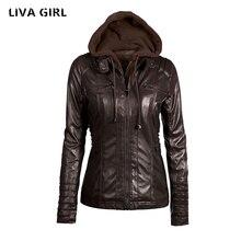 Liva Girl Leather Jacket Women Plus Size 7XL Winter Female Coat Detachable Hat Jaqueta De Couro Feminino Abrigo Mujer YP70738