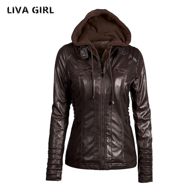0fe074bdf Liva Girl Leather Jacket Women Plus Size 7XL Winter Female Coat Detachable  Hat Jaqueta De Couro Feminino Abrigo Mujer YP70738