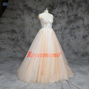 Image 3 - 2019 חדש הגעה ניגודיות צבע נחמד ואגלי אורך רצפת שמלות חתונה שמלת אישית מקובלים במפעל ישירות