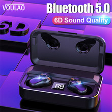 VOULAO Bluetooth Headphones 5.0 TWS Wireless Ture Earphone 3500mAh Pow
