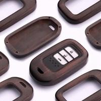 Genuine Leather Sanders Design Car Key Case Key Chain car key pack cover For Honda Civic CR V Accord XR V Spirior 2/3/4 Button