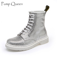 Fashion White Pink Boots Women Punk Boot Shoes 2016 New Arrival Ankle Boots For Women Bota