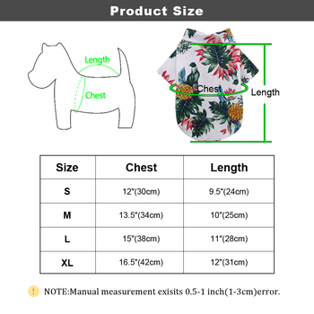 Spring Summer Dog Clothes For Small Medium Dogs Cats Cotton Printed Pet Puppy Chihuahua Clothing Pug Yorkshire T-Shirt Shirts 5