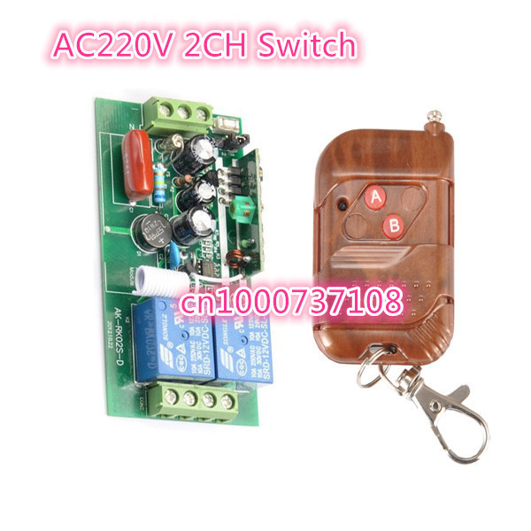 220V 2CH RF Wireless Remote Control Switches Receiver and Transmitter Home Automation 315MHZ OR 433MHZ