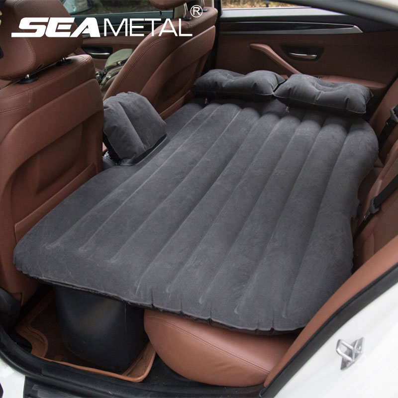 Car Air Inflatable Bed Seat Cover Back Set Universal Outdoor Travel Bed Mattress Auto Bedding Air
