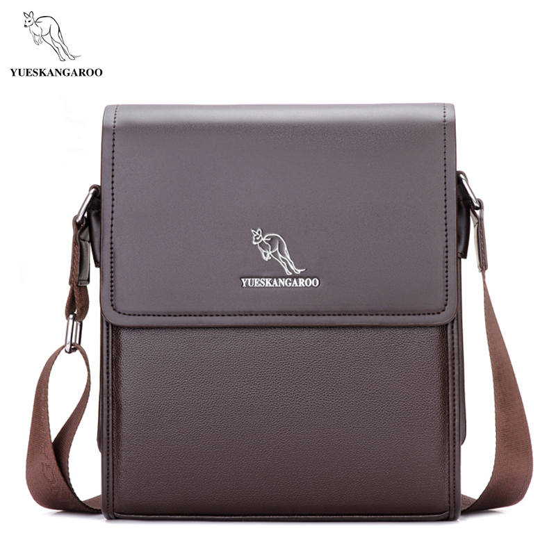 YUES KANGAROO men messenger bag men leather bag designer famous brand shoulder bag business briefcase crossbody bag for men yues kangaroo brand men bag leather casual high quality shoulder crossbody bags classical business briefcase mens messenger bag