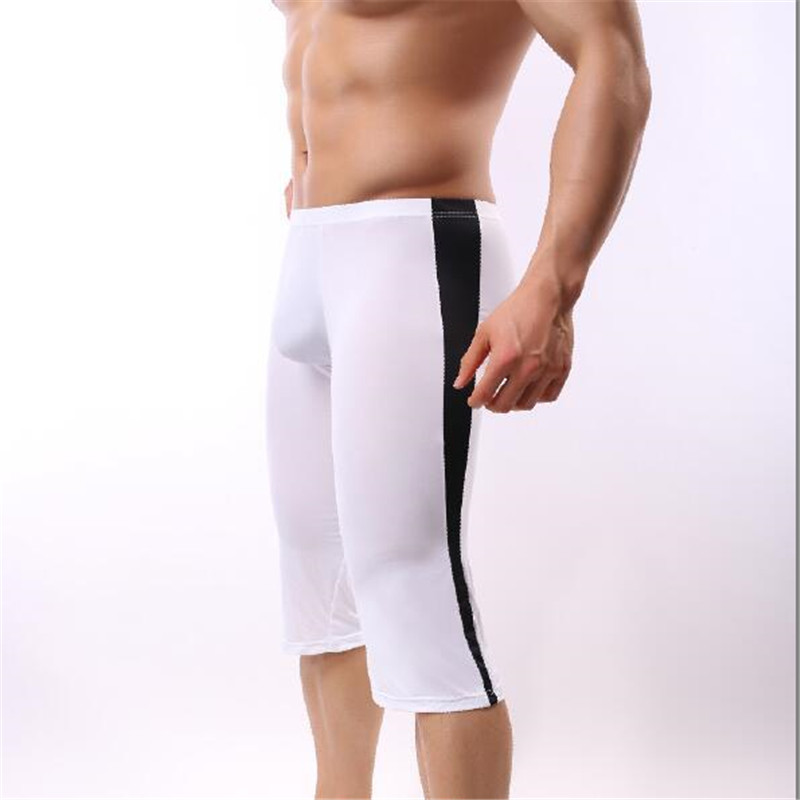 Trousers Underwear Boxers Ice-Silk Mens Tights M-XXL Body-Shaping Household