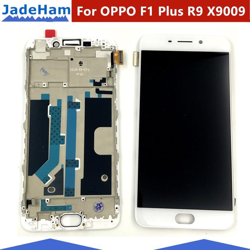5 5 For OPPO F1 Plus R9 X9009 LCD Display Touch Screen Digitizer Sensor Frame Full