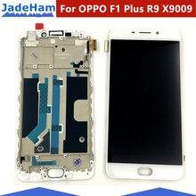 """5.5 """"עבור OPPO F1 בתוספת R9 X9009 LCD תצוגה + מסך מגע Digitizer חיישן + מסגרת מלא עצרת החלפה חלקי"""