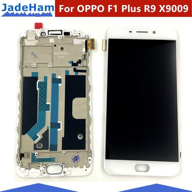"""5.5 """"Per OPPO F1 Più R9 X9009 Display LCD + Touch Screen Digitizer Sensor + Telaio di Montaggio Completo di Ricambio parti"""