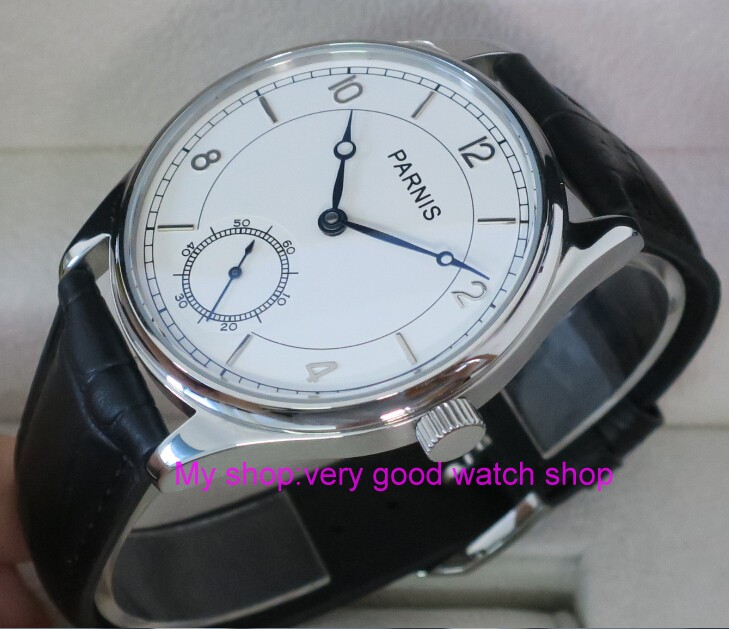 44mm PARNIS White dial Asian 6498 Mechanical Hand Wind movement men's watch Mechanical watches RNM05 44mm parnis white dial asian 6498 3621 mechanical hand wind movement men s watch mechanical watches rnm9