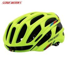 Sonicworks чехол для велосипедного шлема с светодиодный свет MTB Горный Дорожный велосипед Велоспорт Шлем для езды на мотоцикле Для мужчин Для женщин Capaceta да Bicicleta SW0002