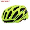 Чехол для велосипедного шлема SONICWORKS  со светодиодными лампами  MTB  горный  велосипедный шлем для мужчин и женщин  Capaceta Da Bicicleta SW0002