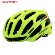 SONICWORKS Bicycle Helmet Cover With LED Lights MTB Mountain Road Cycling Bike Helmets Men Women Capaceta Da Bicicleta SW0002