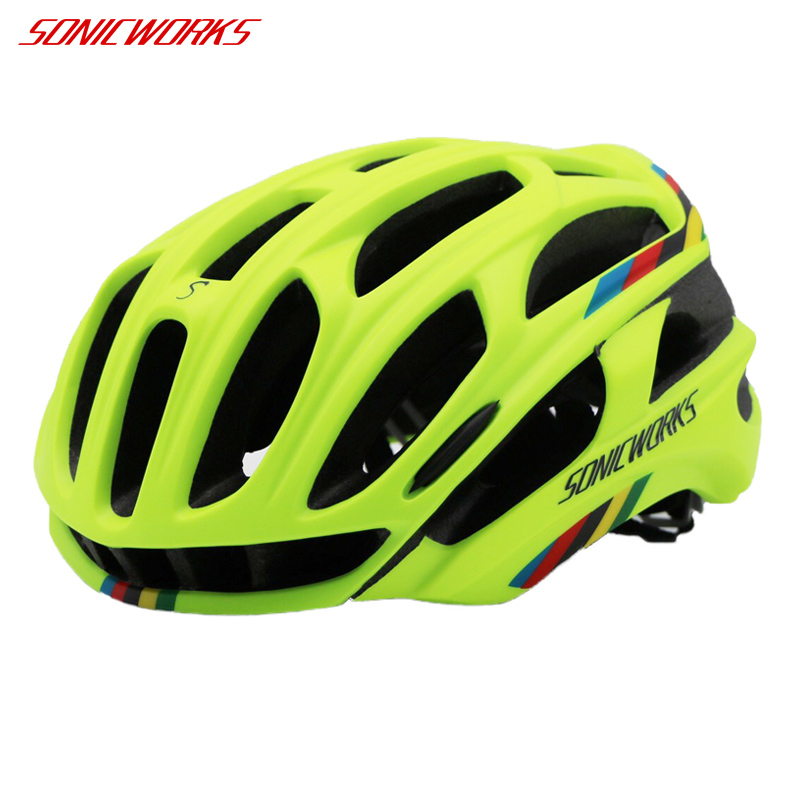 SONICWORKS Bicycle Helmet Cover With LED Lights MTB Mountain Road Cycling Bike Helmet Men Women Capaceta Da Bicicleta SW0002 image