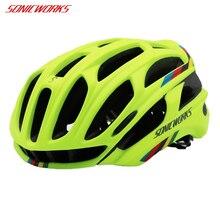 SONICWORKS чехол для велосипедного шлема с светодиодный свет MTB Горный Дорожный Велоспорт велосипед шлемы Для мужчин Для женщин Capaceta да Bicicleta SW0002