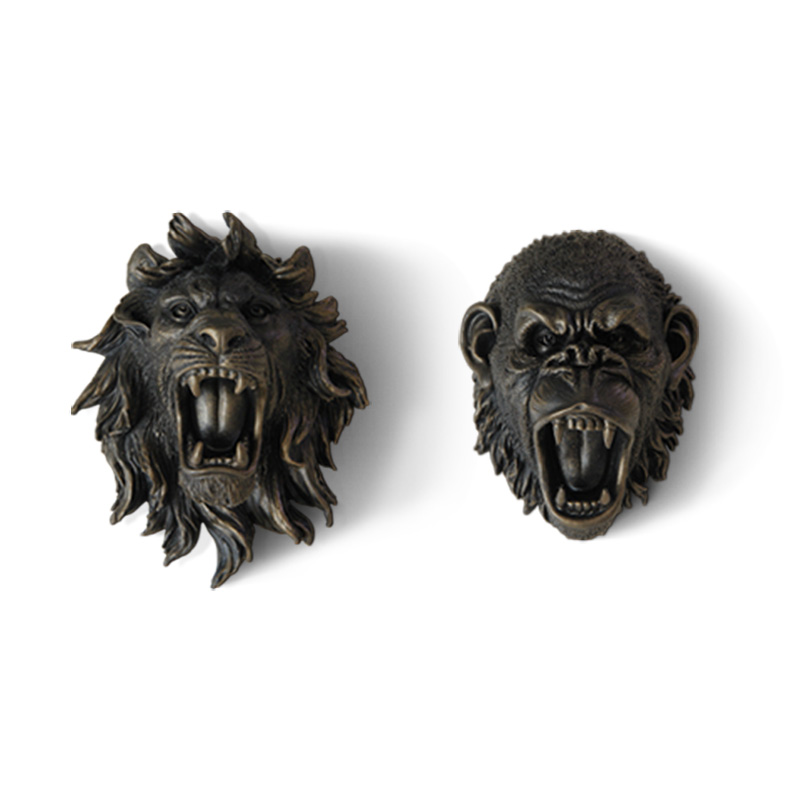 Bear/King Kong/Lion/Tiger/Wolf Head Statues Resin Art&Craft Angry Animal Head Wall Decoration Art Sculpture R107Bear/King Kong/Lion/Tiger/Wolf Head Statues Resin Art&Craft Angry Animal Head Wall Decoration Art Sculpture R107