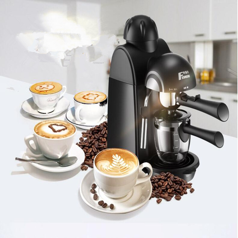 220V Semi-automatic High Pressure Steam Coffee Machine Espresso Cappuccino Latte Moch Milk Foam Household EU/AU/UK/US Plug