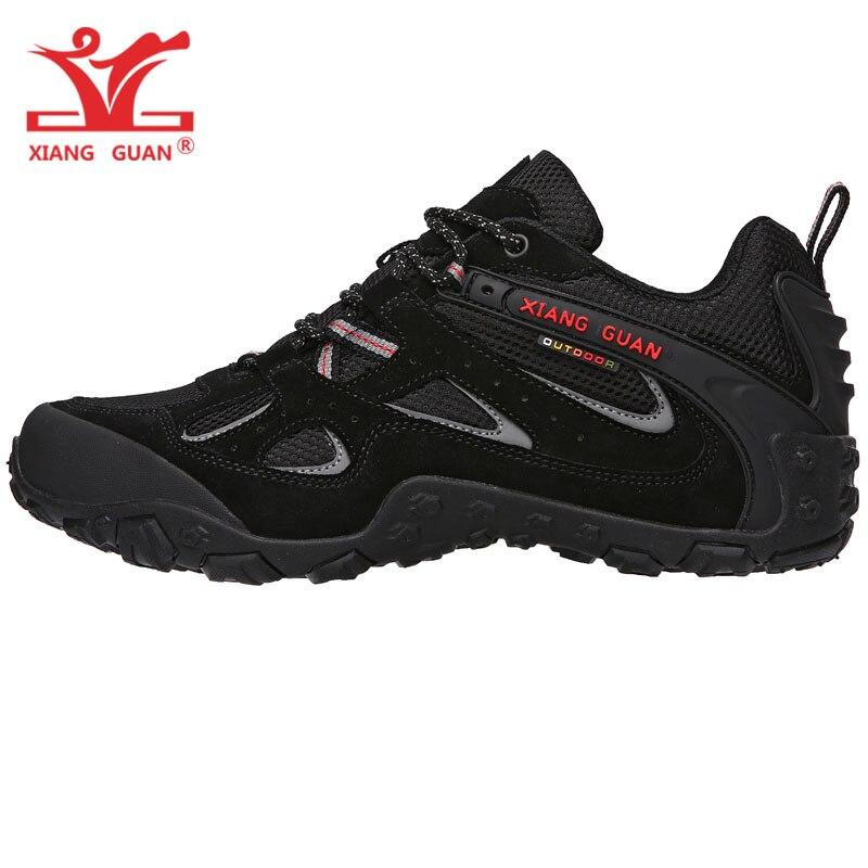 Homme Piste de Marche Chaussures Pour Hommes En Cuir Mesh Respirant Chaussures En Plein Air Antidérapant Trekking Croix Bottes de Chasse Sport Sneakers 8